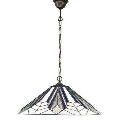 witrażowa lampa wisząca duży klosz do jadalni