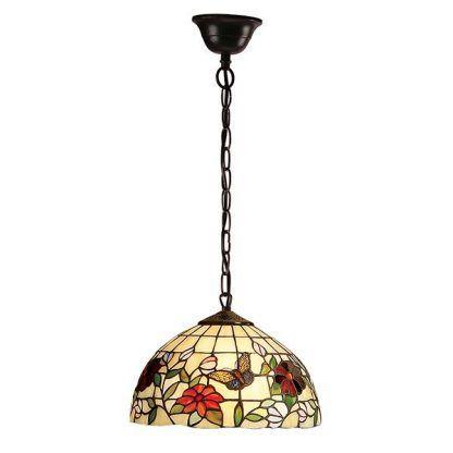 witrażowa lampa wisząca dworkowa do jadalni