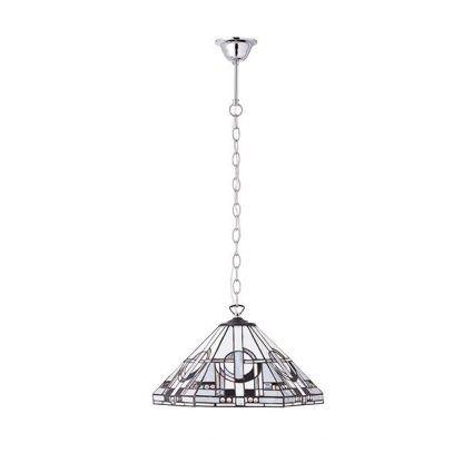 witrażowa lampa wisząca geometryczny motyw