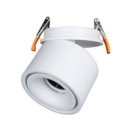 wpuszczany biały reflektor obrotowy