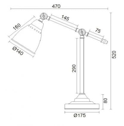 wymiar lampy 7131