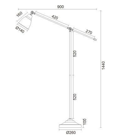 wymiar lampy 713171