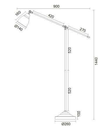 wymiary lampa 761