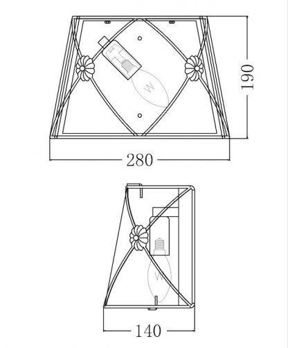 wymiary lampy 12249