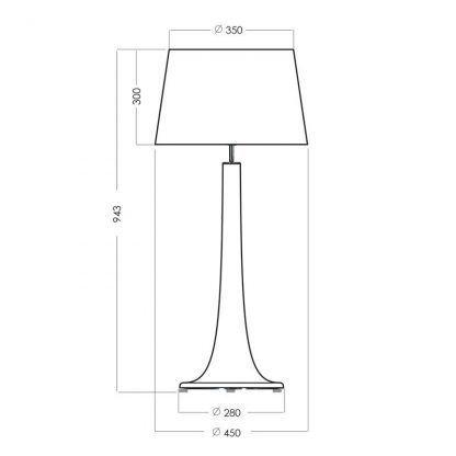 wymiary lampy 2522