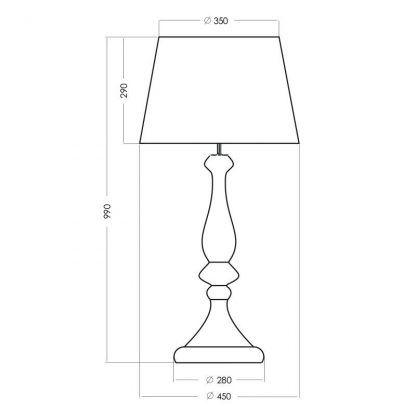 wymiary lampy 252222