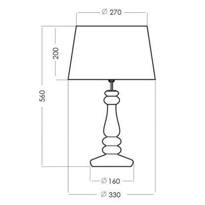 wymiary lampy 252222222
