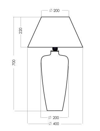 wymiary lampy 252322