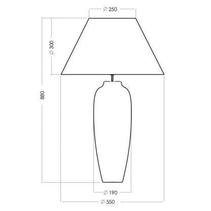 wymiary lampy 341111