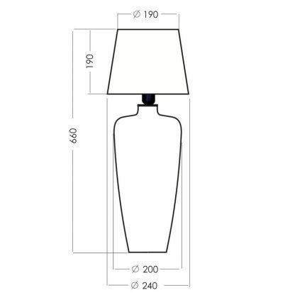wymiary lampy 5425