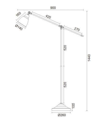 wymiary lampy 545741