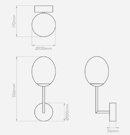 wymiary lampy 6301211