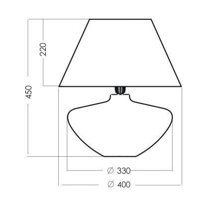 wymiary lampy 64681684