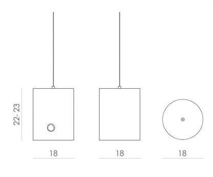 wymiary lampy 684647
