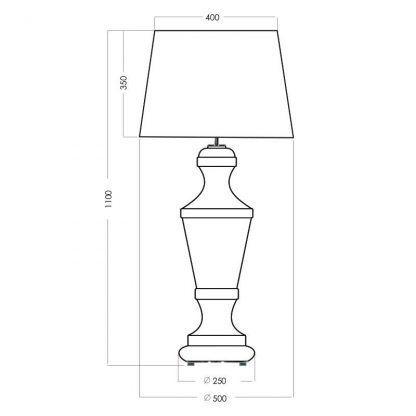 wymiary lampy 711111