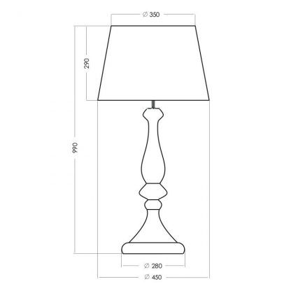 wymiary lampy 711112