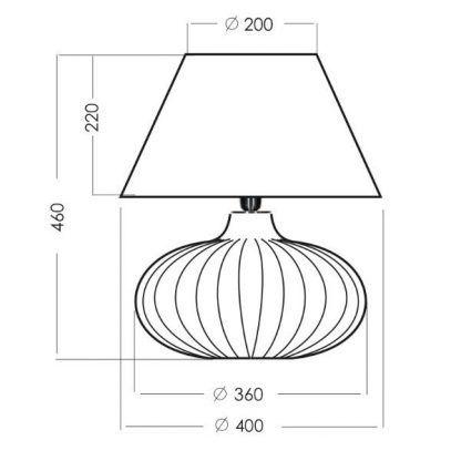wymiary lampy ab91111111111
