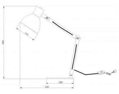 wymiary lampy biurkowej 1
