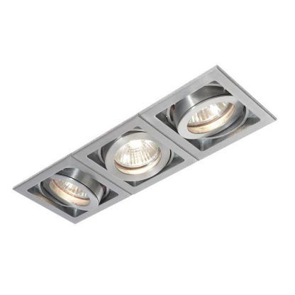 xeno potrójne regulowane oczko sufitowe srebrne