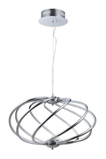 Zakręcona lampa wisząca - srebrna