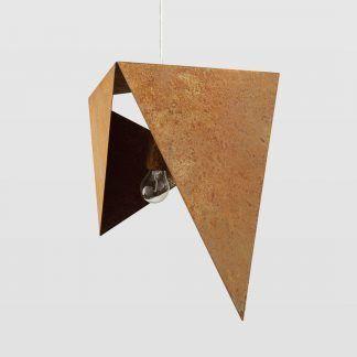 Zardzewiała lampa wisząca origami do kuchni