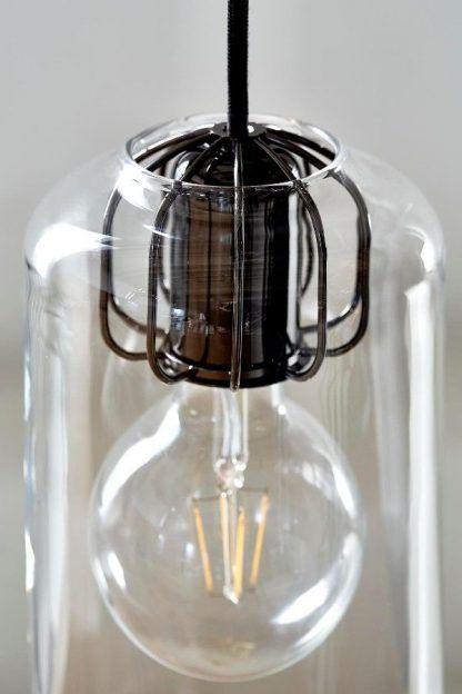 żarówka w słoiku lampa wisząca nowoczesna ze szkła