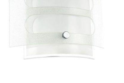 zbliżenie na kinkiet ze szkła