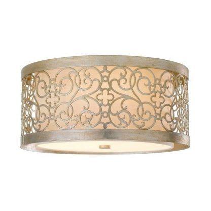 zdobiony klasyczny plafon - sufitowa lampa beżowa