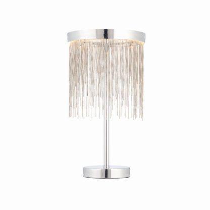 zelma lampa stołowa z połyskującymi łańcuszkami