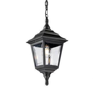 Zewnętrzna lampa wisząca w kolorze czarnym