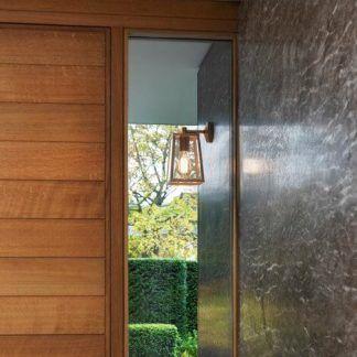 zewnętrzny kinkiet na wejście do domu - stalowy z żarówką edisona