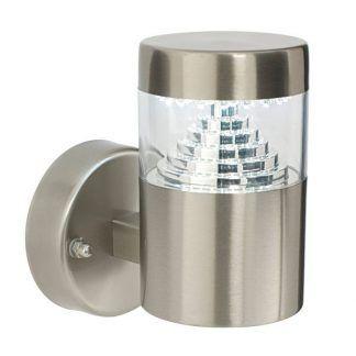 Zewnętrzny kinkiet w kształcie tuby ze szklanym elementem