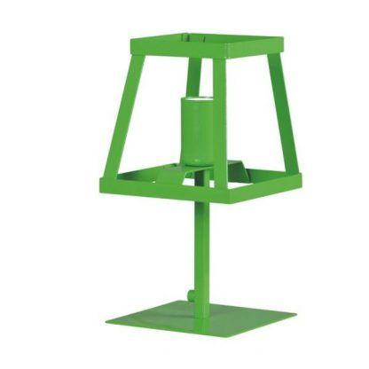zielona lampa biurkowa geometryczny klosz ażurowa