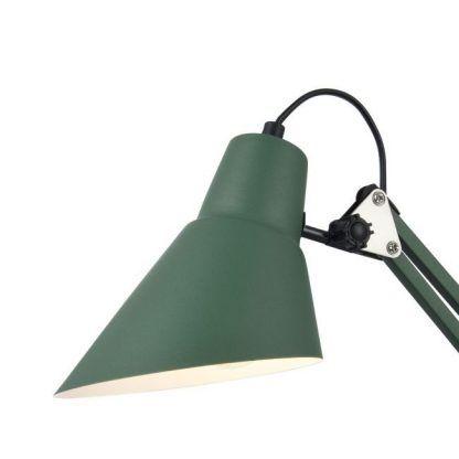 zielona lampa stołowa z regulacją