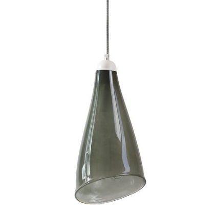 zielona lampa wiszaca ciemna - jedna żarówka do kuchni