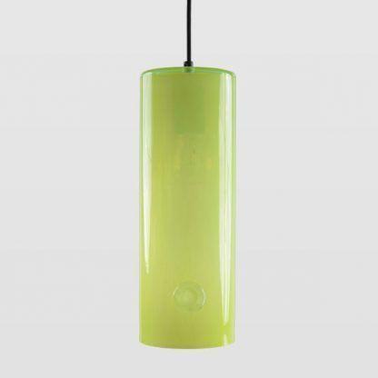 zielona lampa wisząca ze szkła do salonu