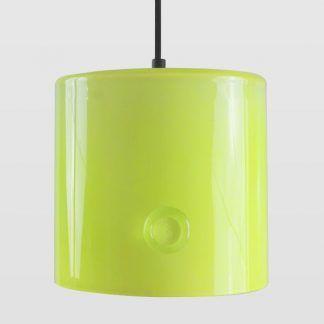 zielona lampa wisząca ze szkła do sypialni