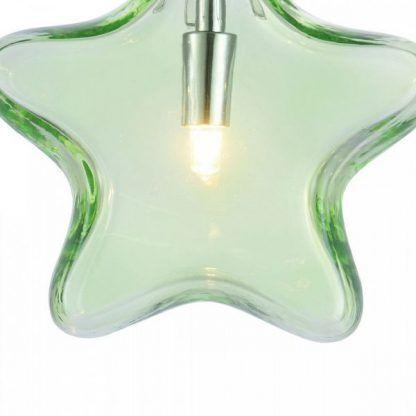 zielona szklana lampa wisząca - dla dzieci