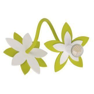 zielony kinkiet dziecięcy kwiatek