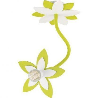 zielony kwiatek lampa sufitowa dziecięca