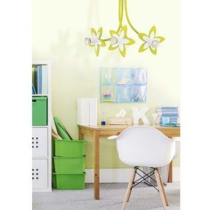 zielony żyrandol pokój dziecięcy aranżacja
