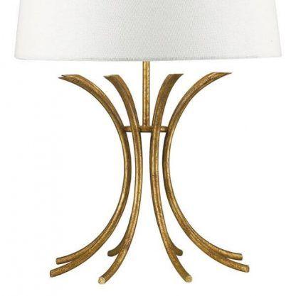 Złota ażurowa podstawa lampy stołowej do salonu