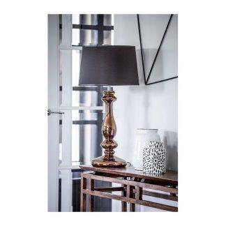 złota lampa stołowa modern classic aranżacja