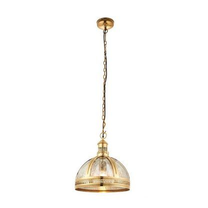 złota lampa wisząca do wnętrz ekskluzywnych