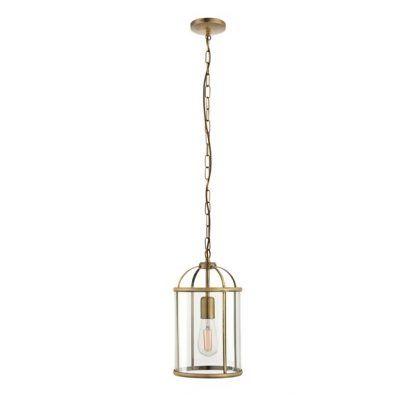 złota lampa wisząca klatka szklany klosz