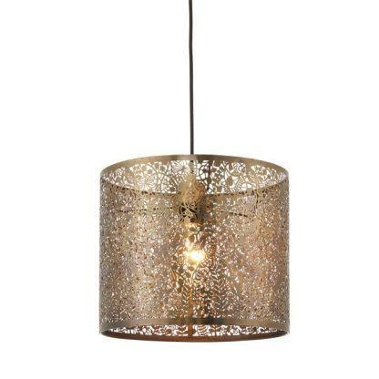 złota lampa wisząca metalowe kwiaty