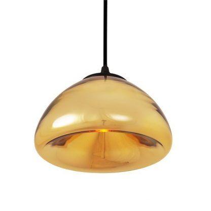złota lampa wisząca szklany połysk do sypialni