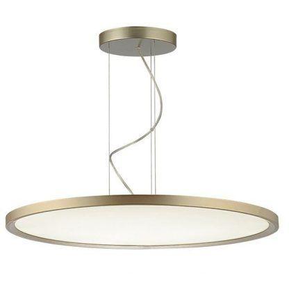 złota lampa wisząca z obręczą led - nowoczesny wygląd