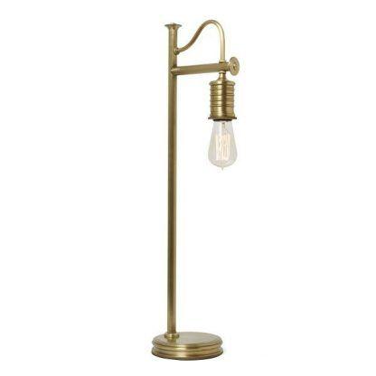 Złota metalowa lampa stołowa do salonu