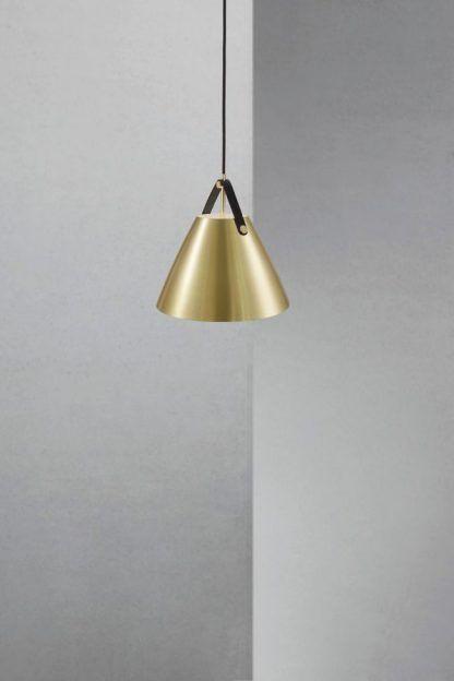 złota nowoczesna lampa wisząca do sypialni